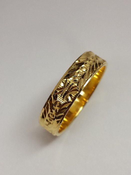 21k gold ring (BAND-101) – Alquds Jewelry