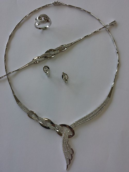 White gold Necklace Sets Alquds Jewelry