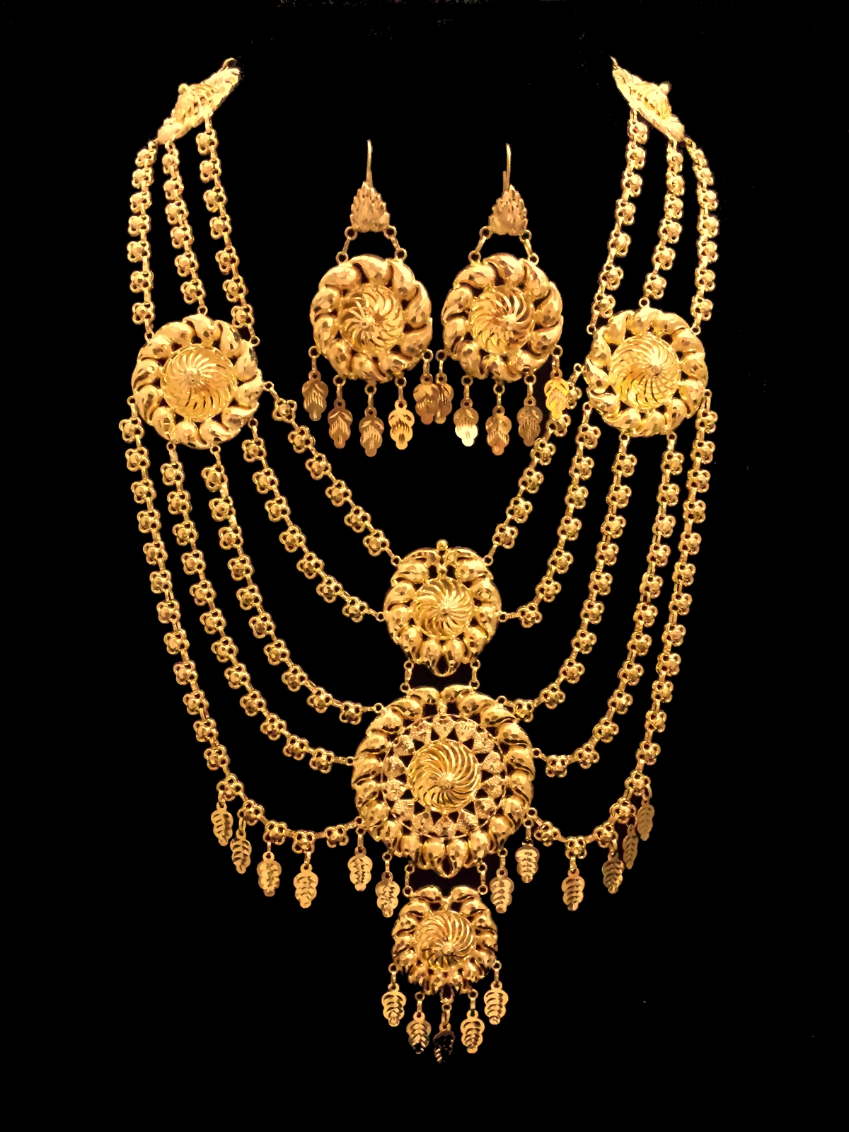 21k necklace set 506 Alquds Jewelry
