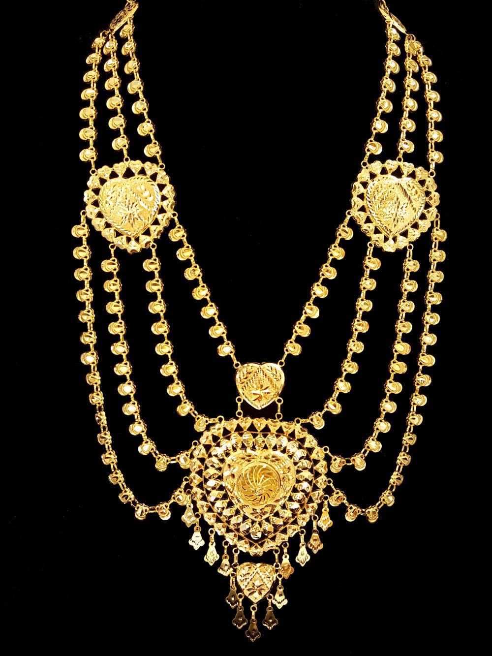21k gold necklace (1259) – Alquds Jewelry