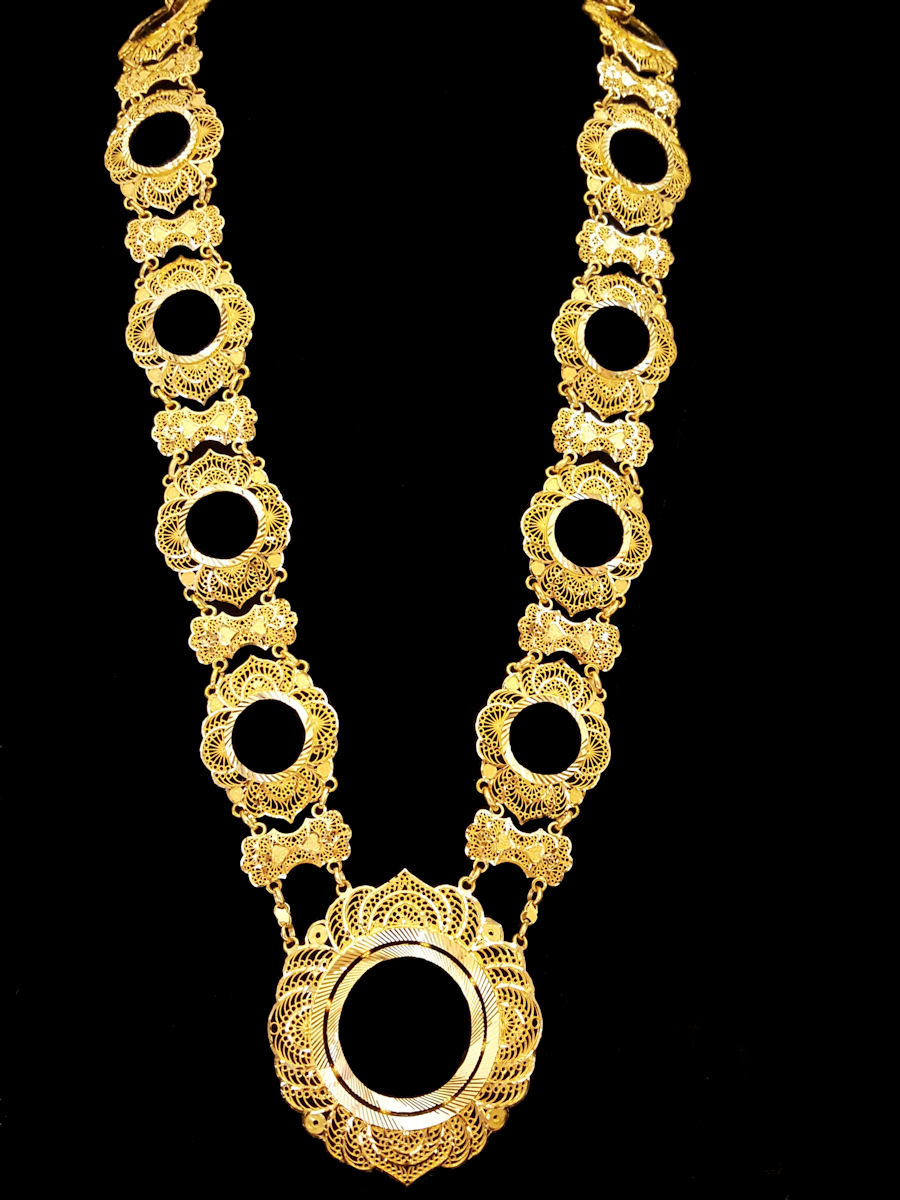 21k gold coin necklace (5562) – Alquds Jewelry