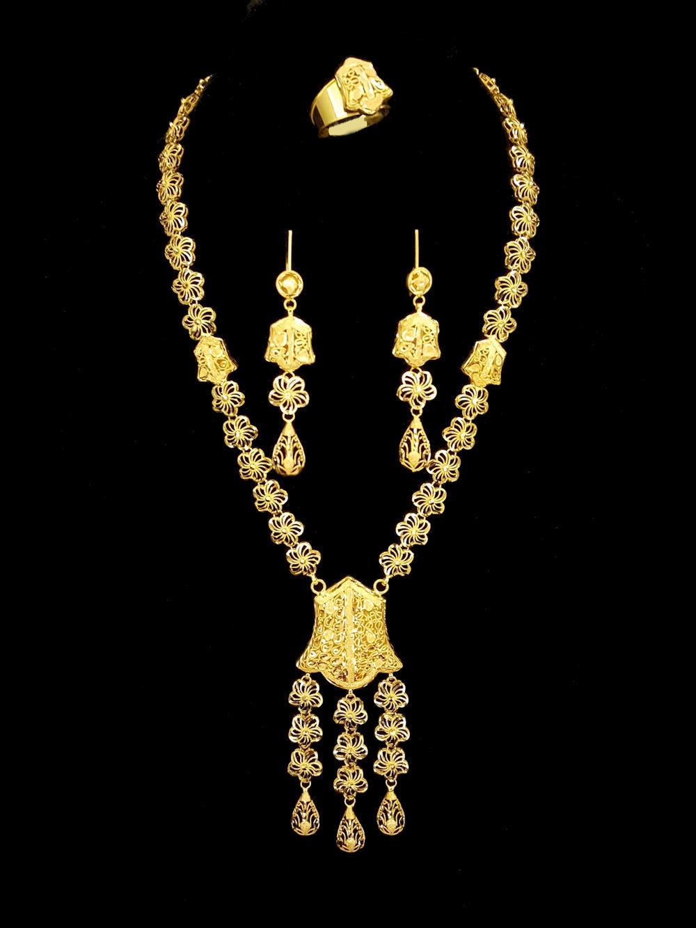Arabic 21k Gold Jewelry Jewelry FlatHeadlake3on3