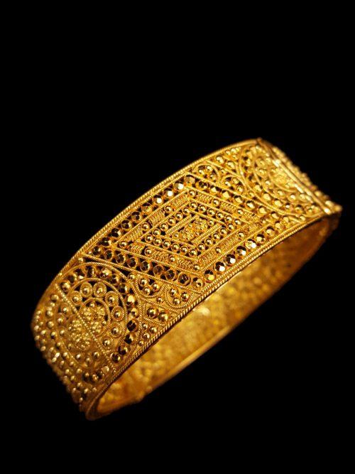 21k gold bangle 6710 Alquds Jewelry