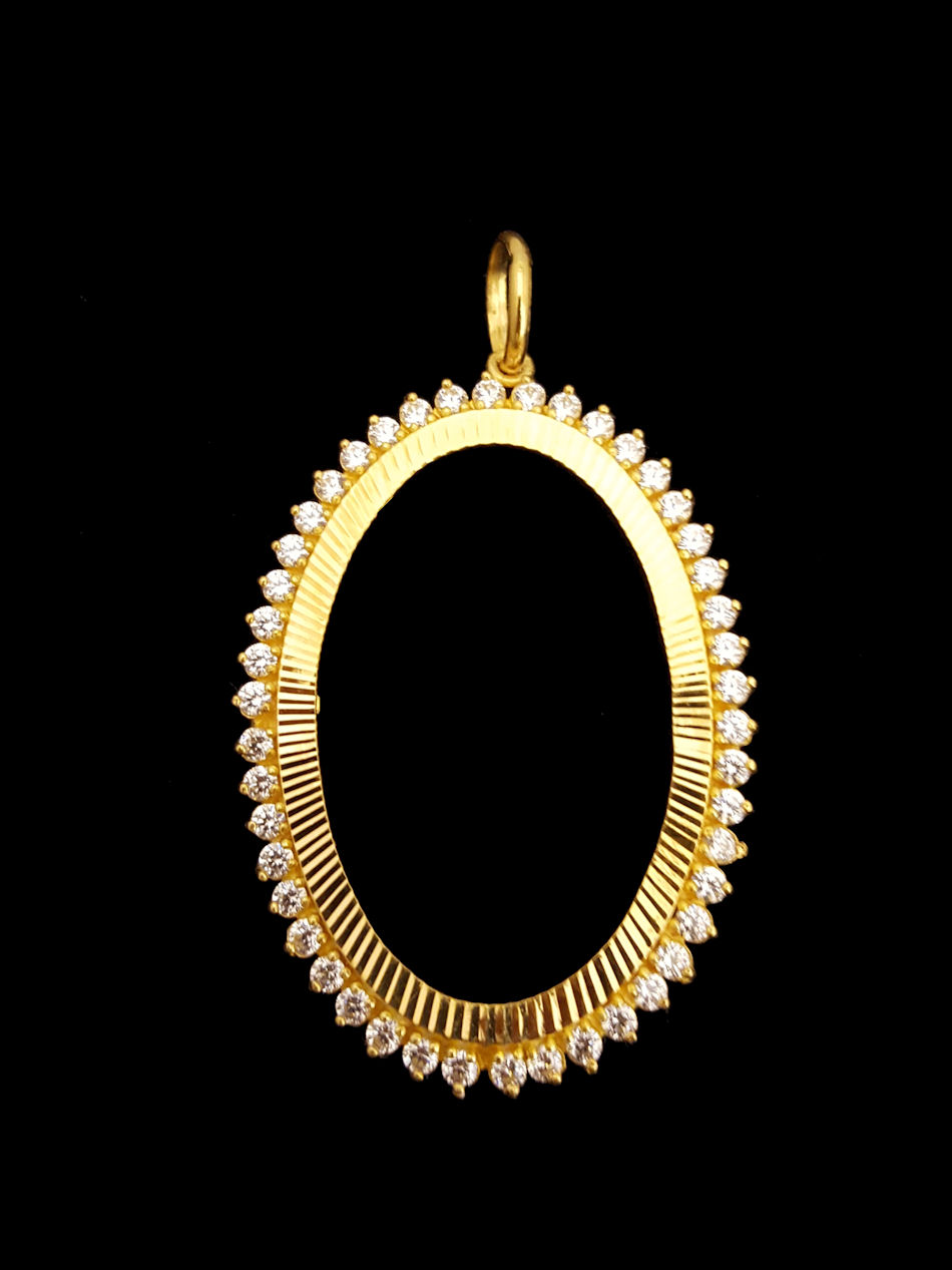 21k gold oval oz frame (1302) – Alquds Jewelry