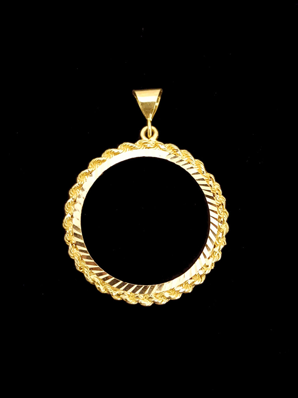 21k Gold Coin Frame 1748 Alquds Jewelry