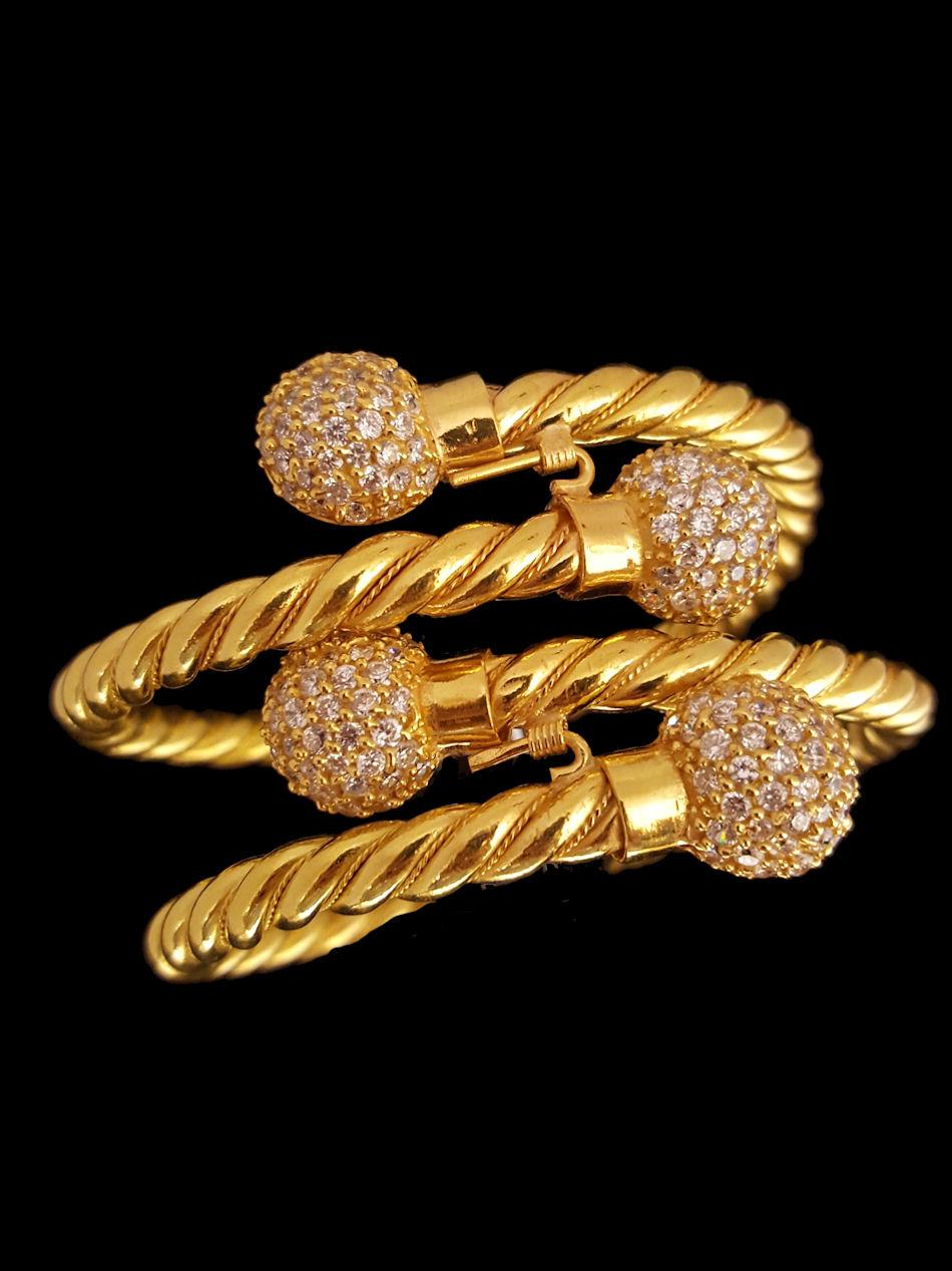 21k Gold Bangle 381 Alquds Jewelry