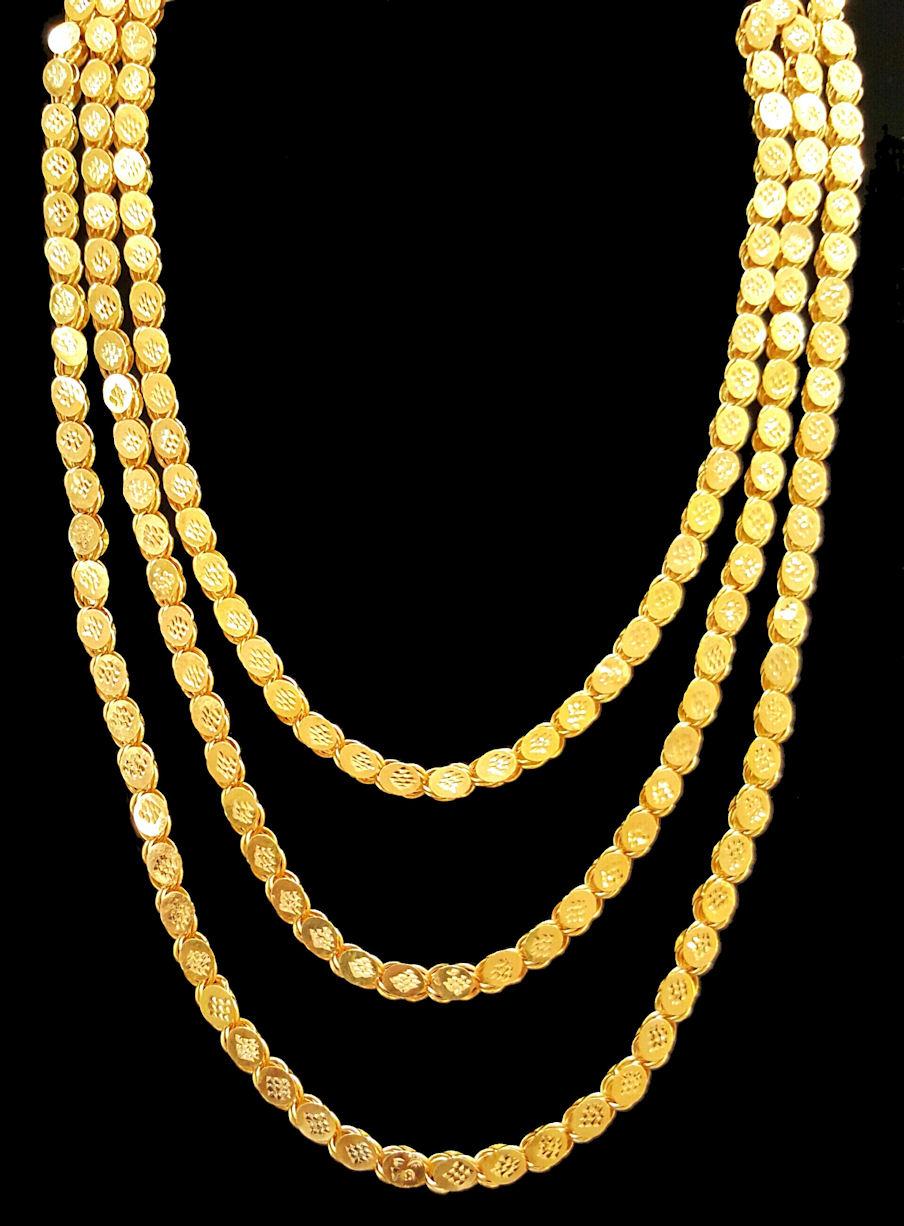 21k gold necklace (2101) – Alquds Jewelry