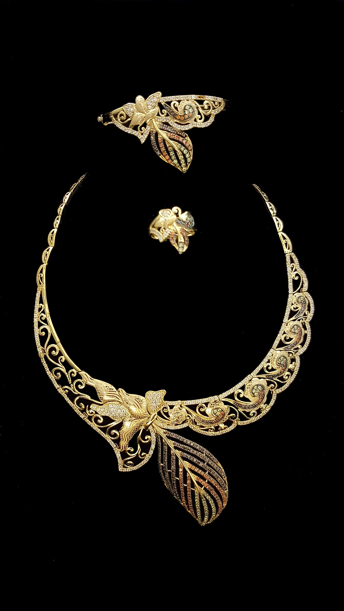 21k gold necklace set (2006) – Alquds Jewelry