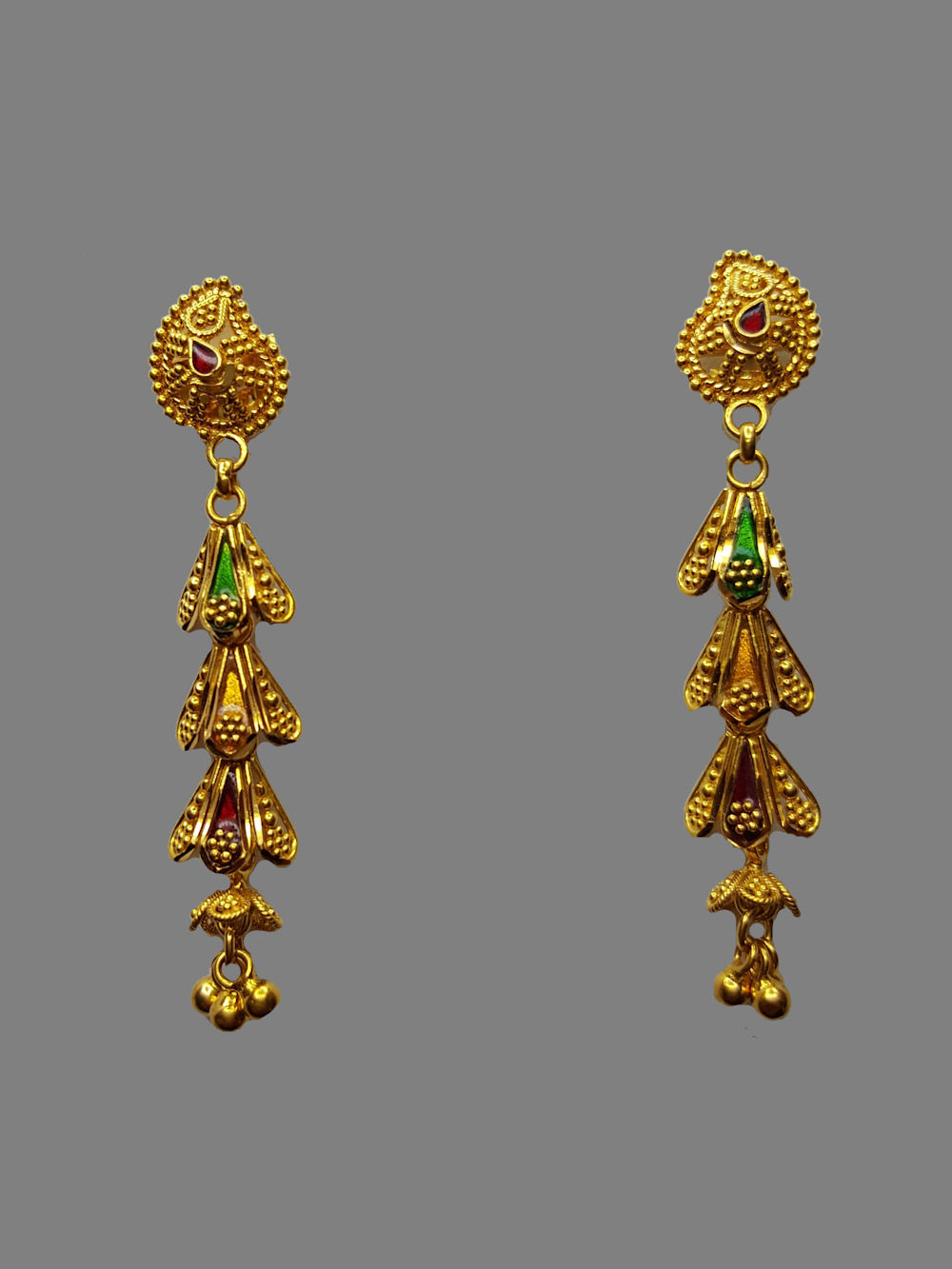 w products jewelers earrings mm virani gm earring ball hanging yellow accents gold