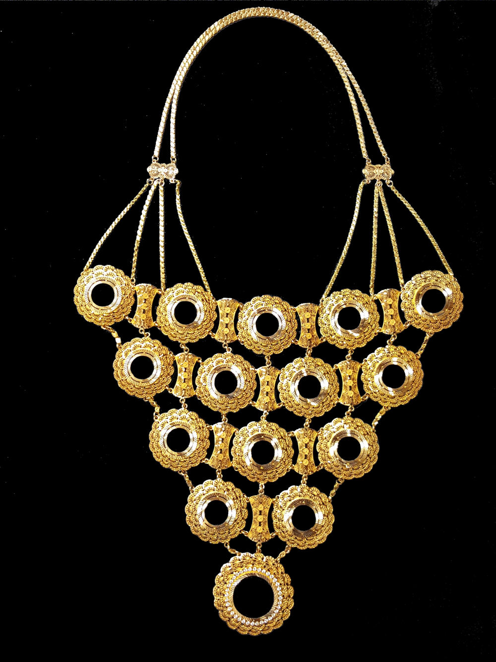 21k gold coin necklace (8001) – Alquds Jewelry