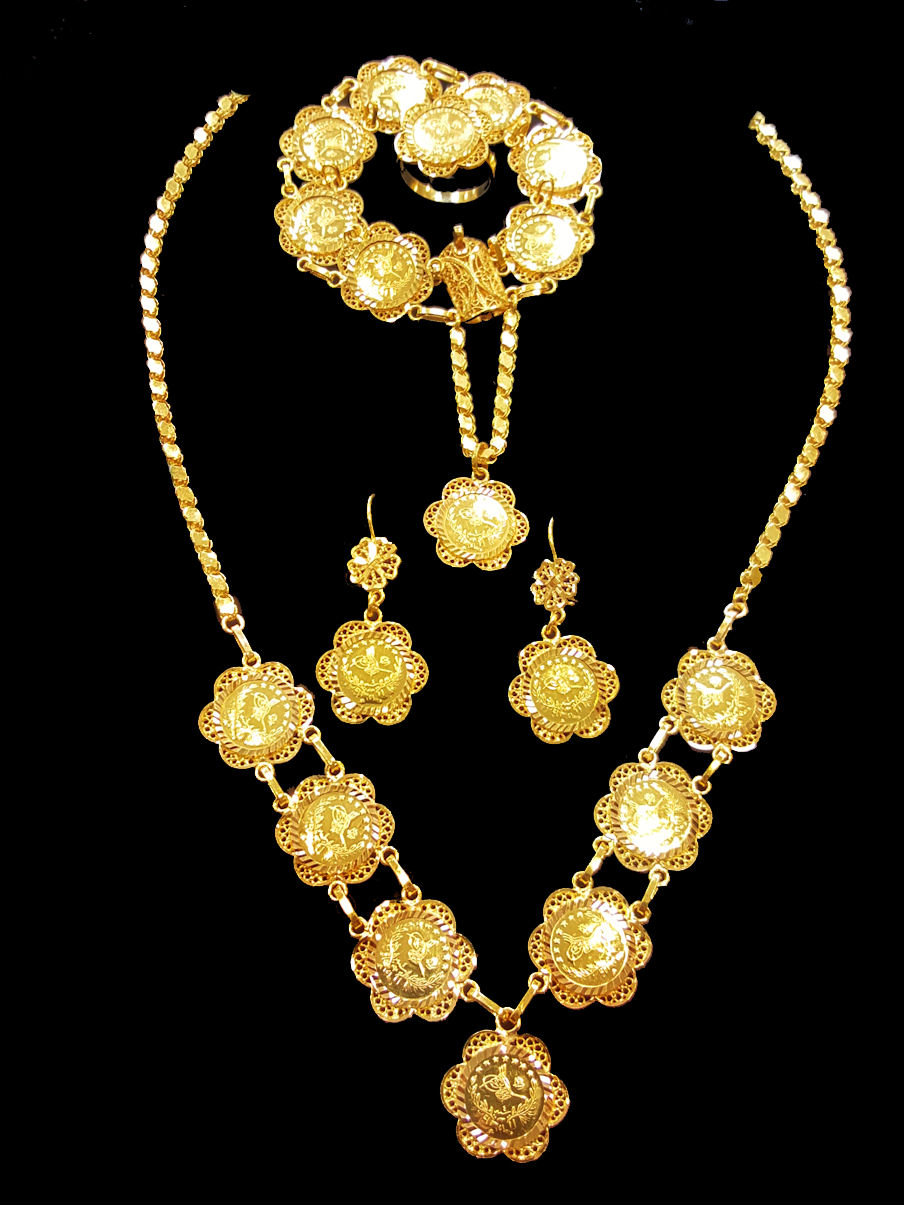Gold Coin Necklace Set 353