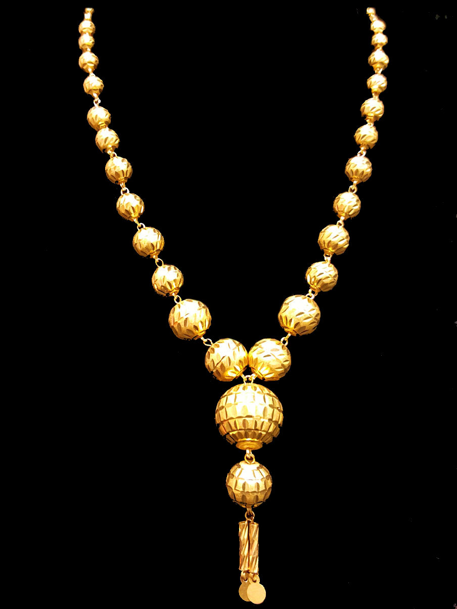 21k Necklace 1802 Home Yellow Gold Necklaces Masbaha