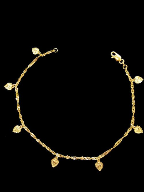 with karat anklet rubies gold emeralds anklets buy pair