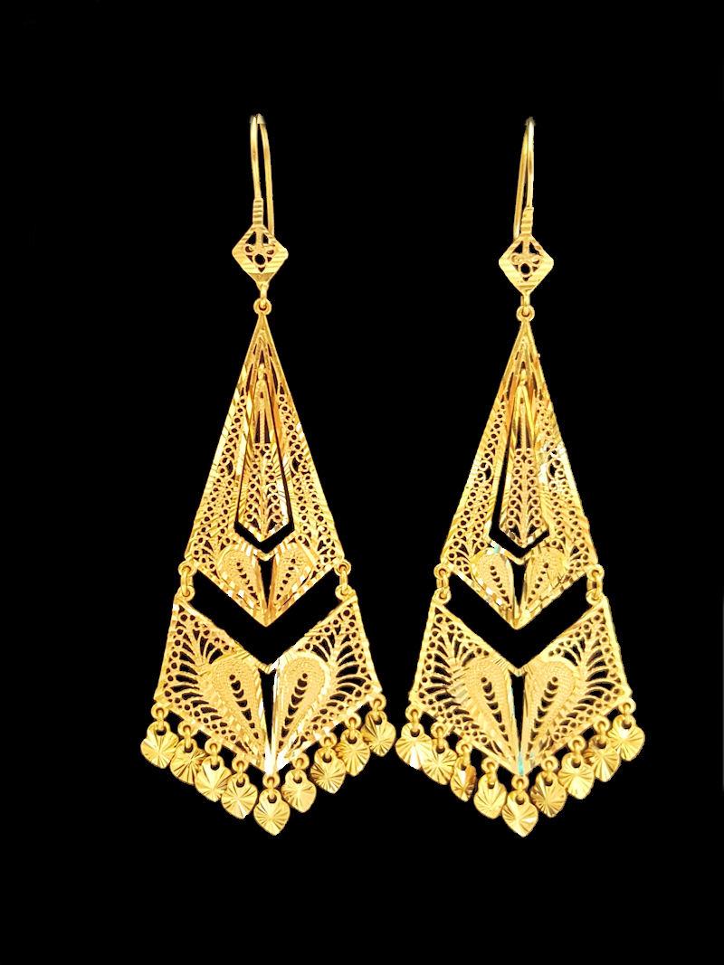 21k gold EARRING (EARRING-6431) – Alquds Jewelry