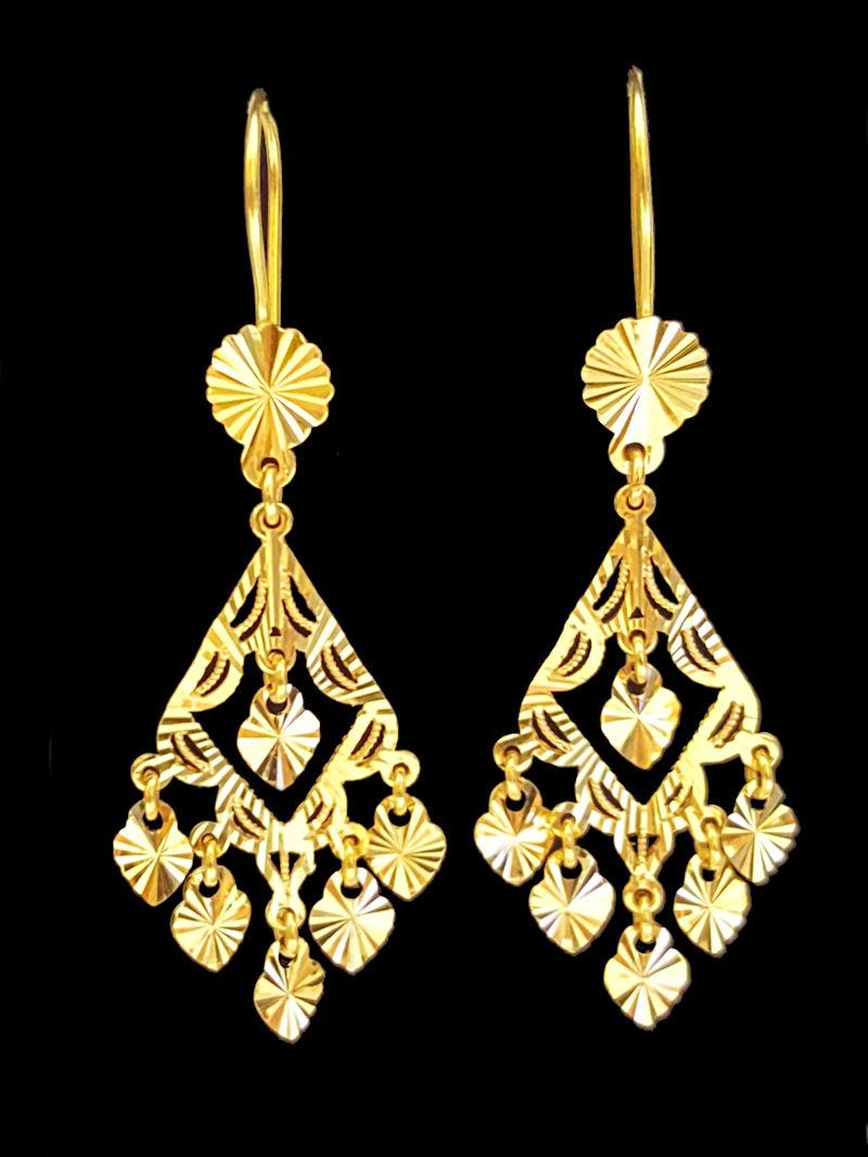 21k gold EARRING (EARRING-1061) – Alquds Jewelry