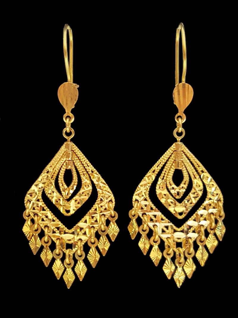 21k Earring 8268 Alquds Jewelry