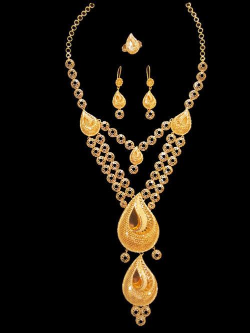 21k gold necklace set (5543)