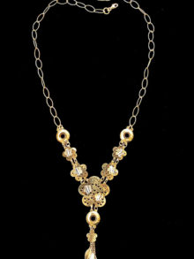 21kgold necklace(8012)