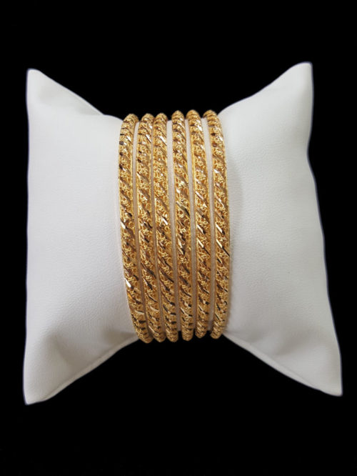 21k gold BANGLE SET (5)