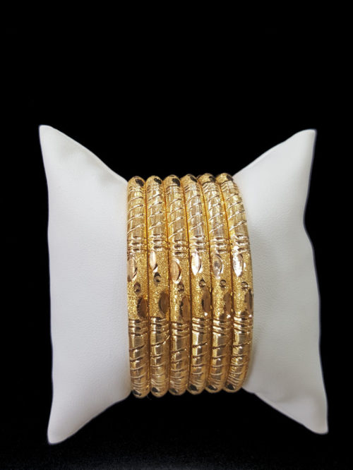 21k gold BANGLE SET (6)