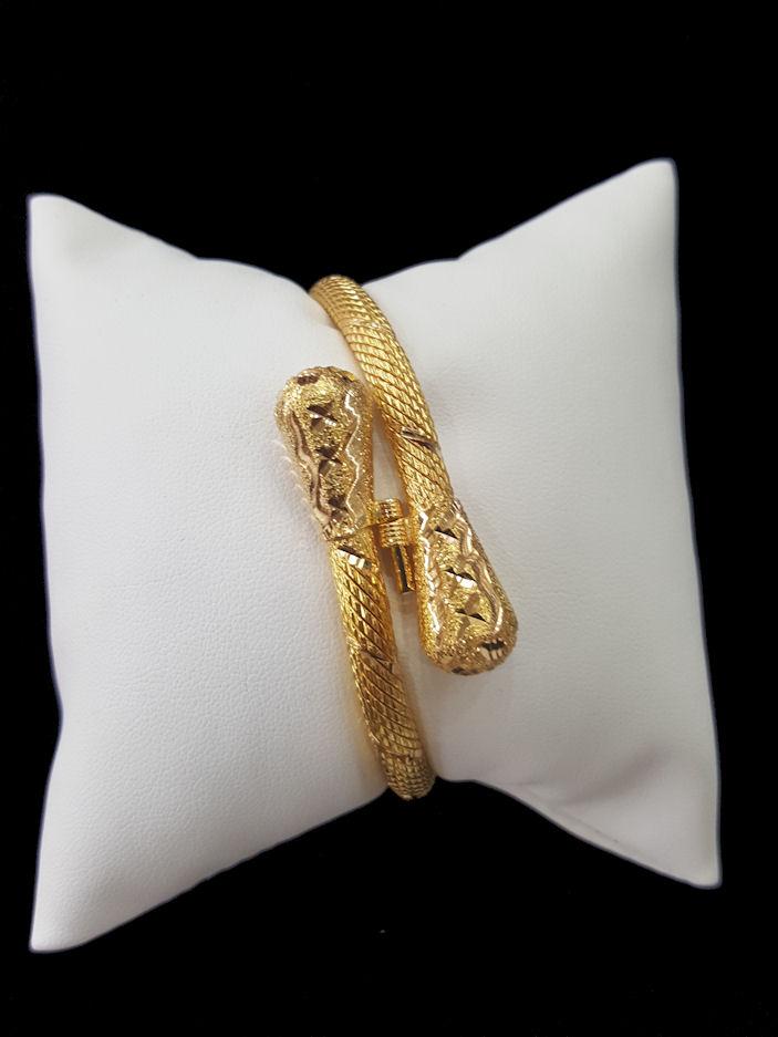 21k Gold Bangle 9227 Alquds Jewelry