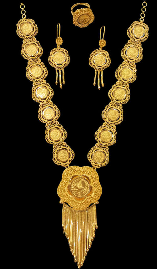 Yellow Gold Necklaces Alquds Jewelry