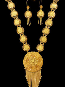 21k coin necklace set 3229