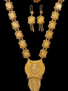 21k coin necklace set 3231