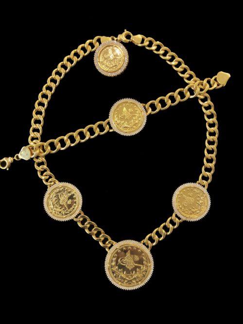 21k gold necklace set 4433