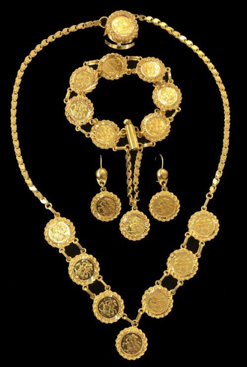 21k gold necklace set 4434