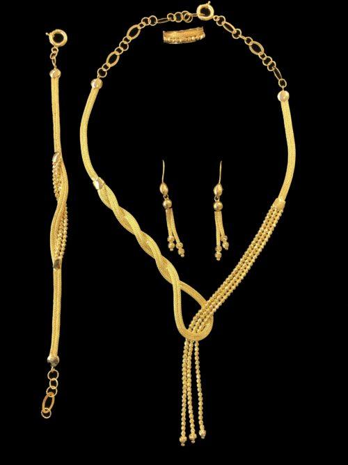 21k gold necklace set 4435