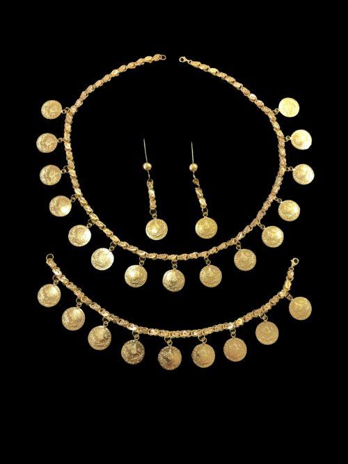 21k gold necklace set 4436