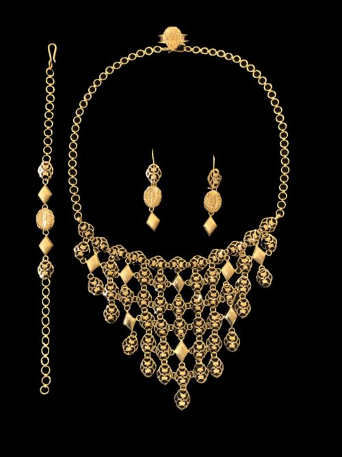 21k gold necklace set 4443