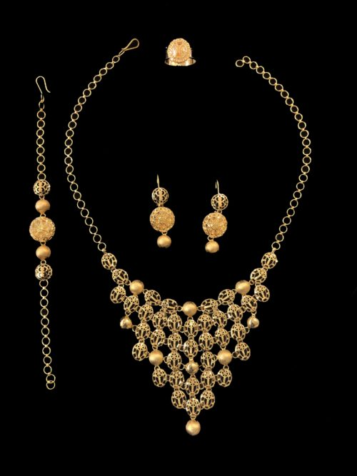 21k gold necklace set 4444