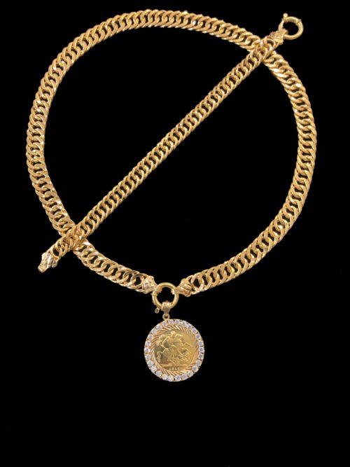 21k gold necklace set 4452