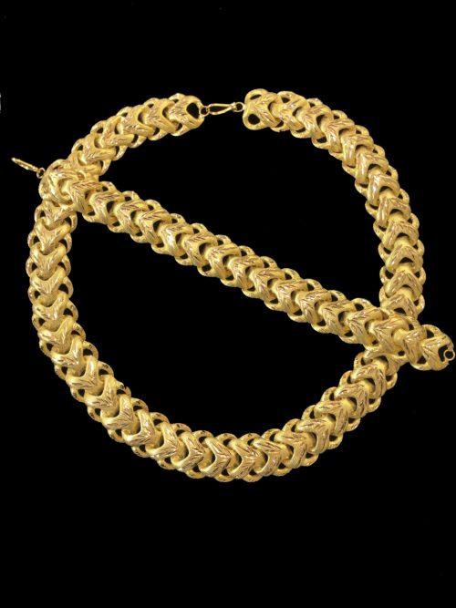 21k gold necklace set 4453