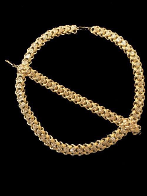 21k gold necklace set 4454