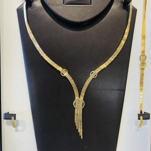 18k necklace set 9230