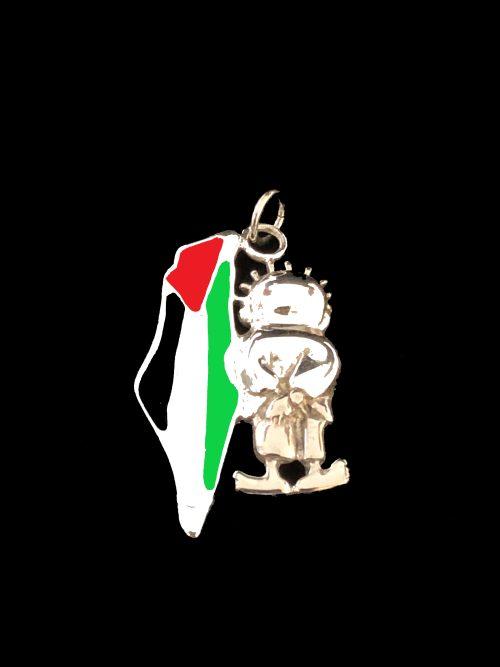 Palestine and Handaleh pendant
